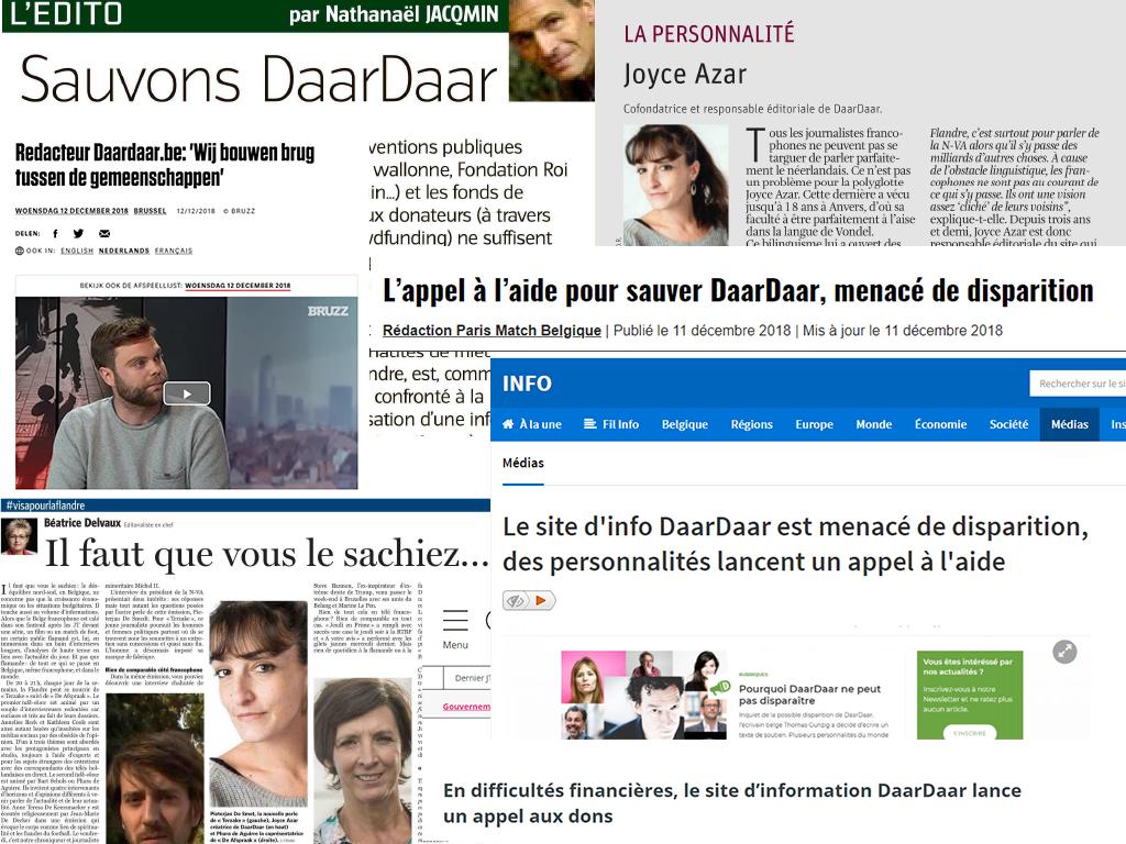 Soutien à DaarDaar : citoyens, médias et politiques répondent présents